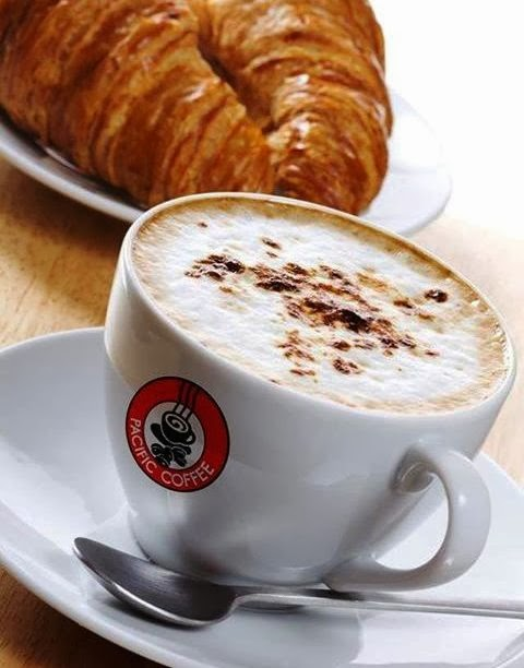 Pacific Coffee, New Outlet, Sunway Pyramid, coffee & croissant