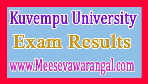 Kuvempu University B.Sc Vth / VIth Sem 2016 Exam Results