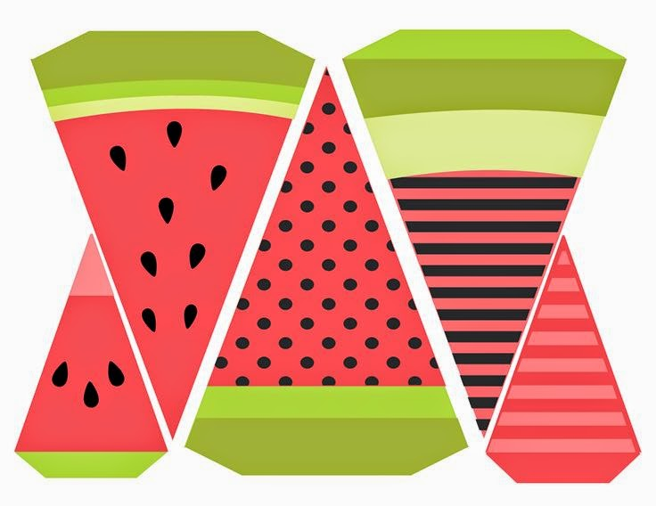 Watermelon Free Printable Banner.