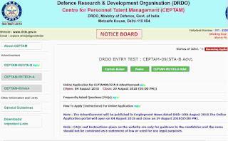 DRDO Recruitment 2018, 494 Senior Technical Assistant Apply Here