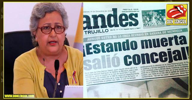 Tibisay proclama como concejal a una chavista que murió hace un mes