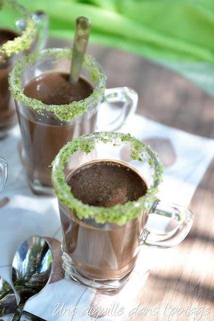 Chocolat froid à la menthe