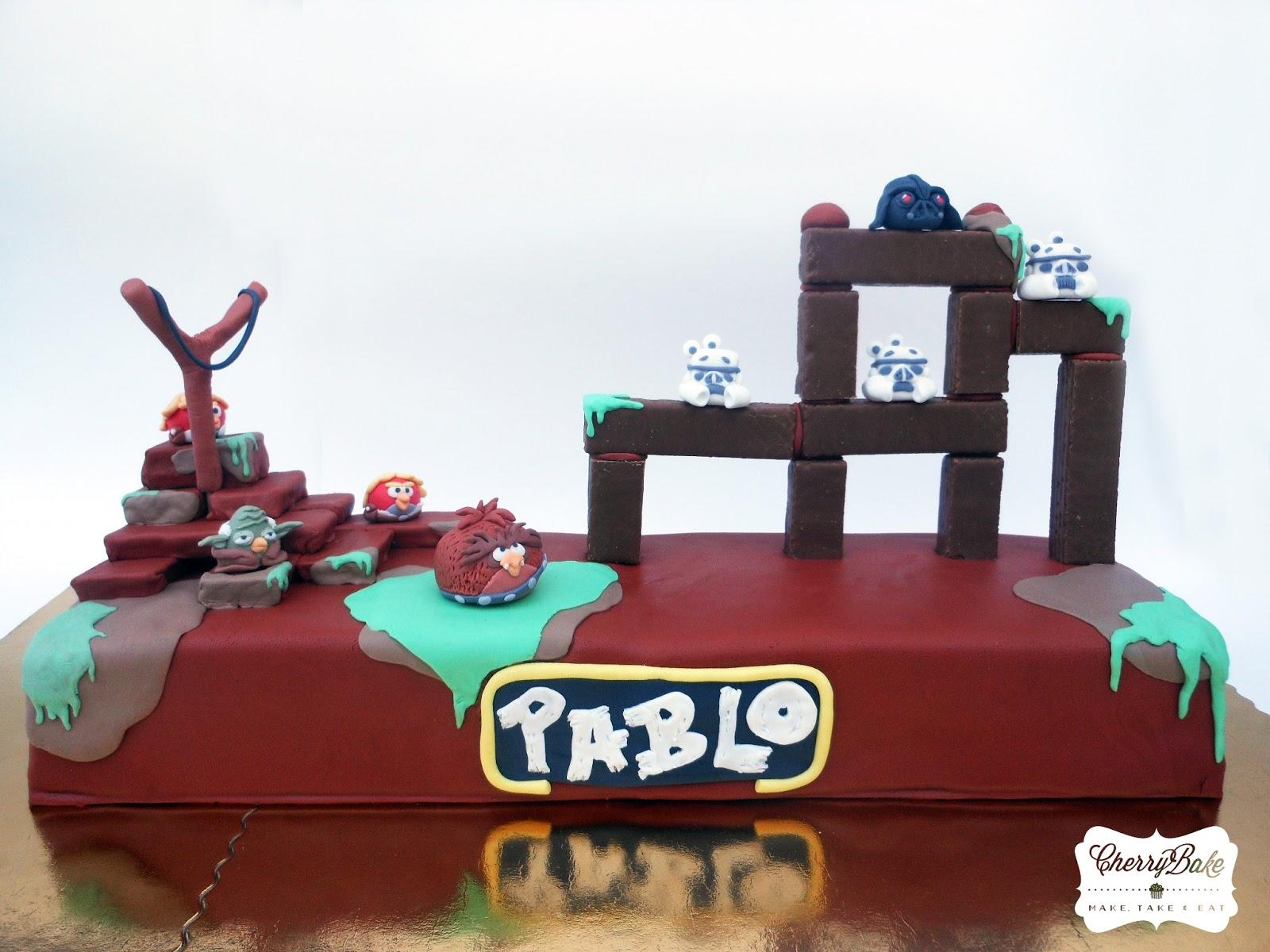 Cherrybake Angry Birds Star Wars Cake
