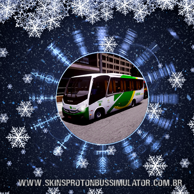 Skin Proton Bus Simulator - New Senior MB LO-916 BT5 Verde Transportes