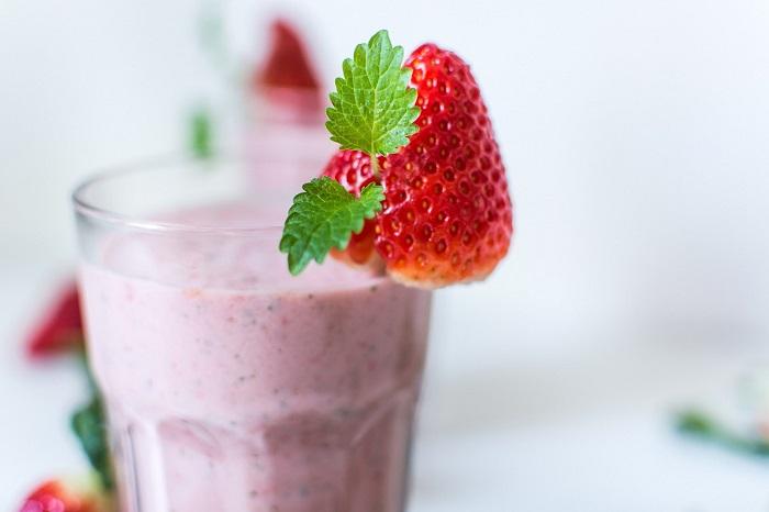 Batido de fresa para ganar masa muscular