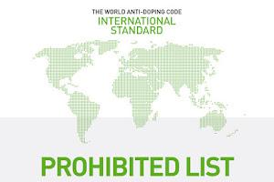 Agência Mundial Antidoping divulga a Lista de Substâncias e Métodos Proibidos 2018
