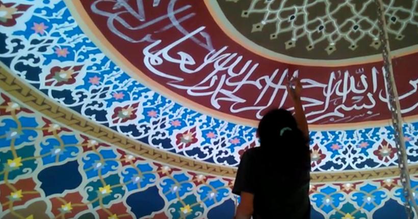 ornamen kaligrafi arab dalam dinding masjid cv assiry art ornamen kaligrafi arab dalam dinding