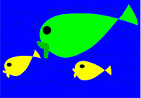 Fish eating fish in the food chain