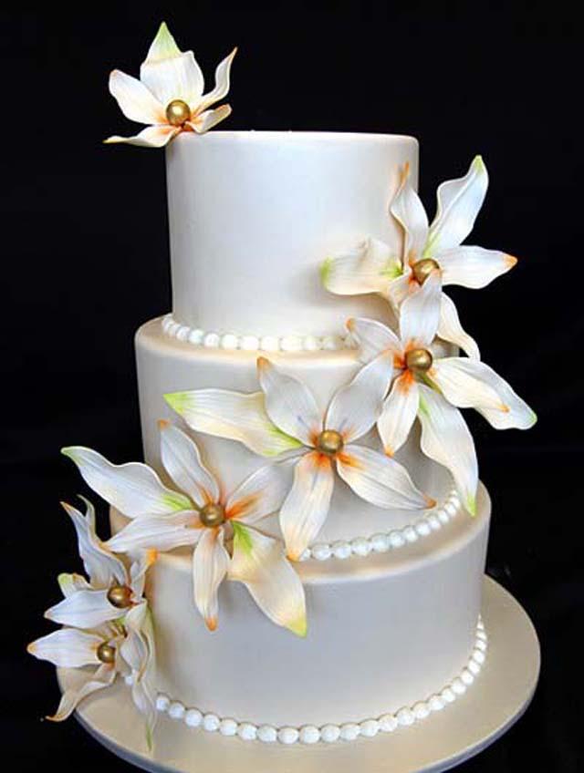 3 Tier Wedding Cakes 12 Superb  Tier Flower Wedding