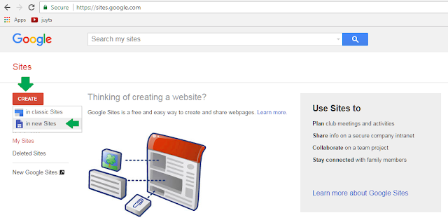 Cara buat website gratis di google sites