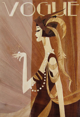 marquetry Vogue cover 1920s