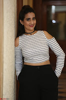 Manjusha in sleevelss crop top and black skirt at Darshakudu pre release ~  Exclusive Celebrities Galleries 025.JPG