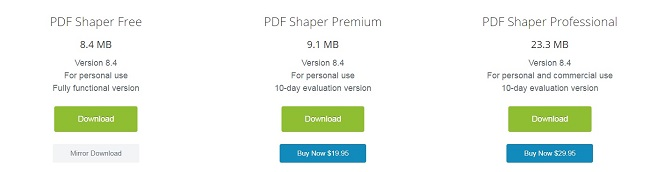 PDFShaper Pricing