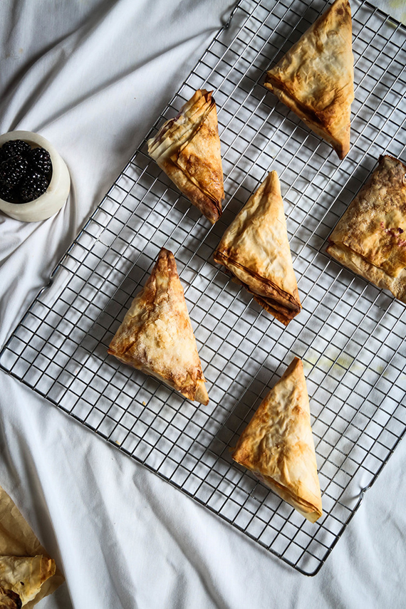 Blackberry ricotta turnovers recipe by Probably This