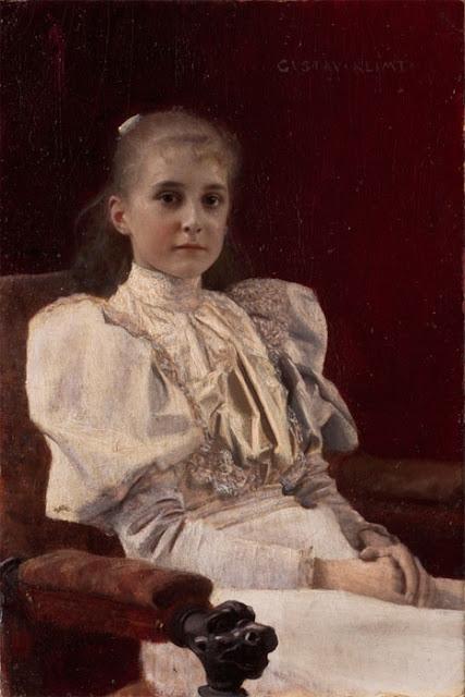 Gustav Klimt - Сидящая девушка