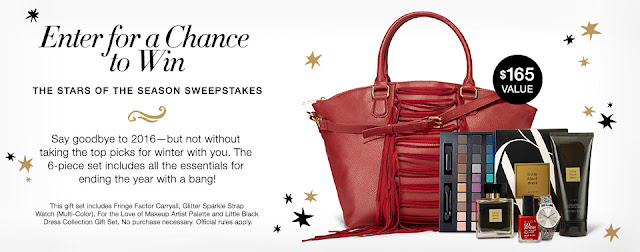 Sweepstakes entry for Avon 6-piece Stars Of The Season set.