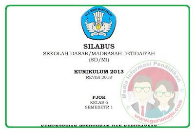 Silabus PJOK  SD K13 Revisi 2018 Semester 1