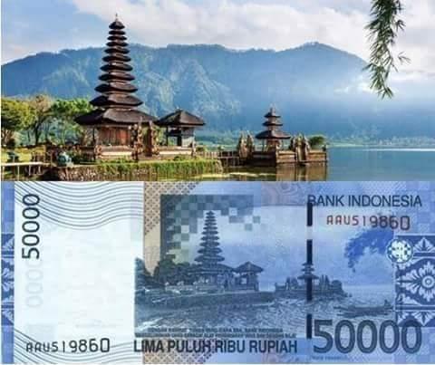 uang 50 ribu Danau Beratan Bedugul