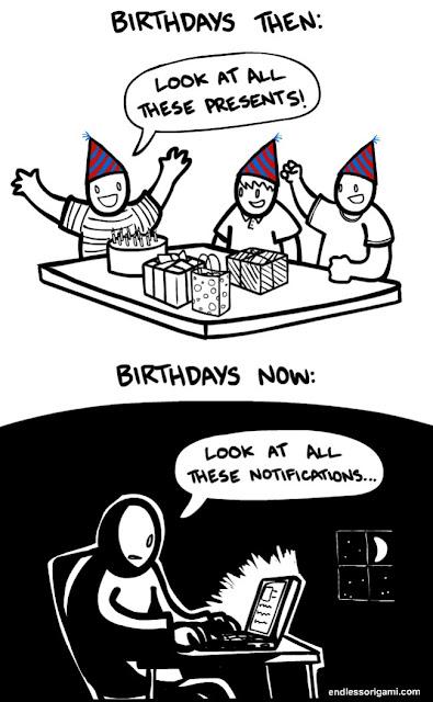 Celebrating Birthdays Then vs Now