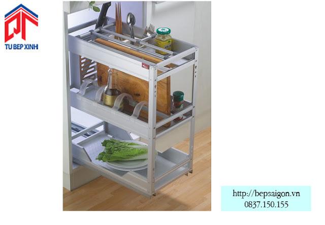 Tổng hợp những phụ kiện không thể thiếu trong tủ bếp hiện đại