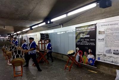 Taiko de Registro fez tremer duas estações do metrô na Capital Paulista