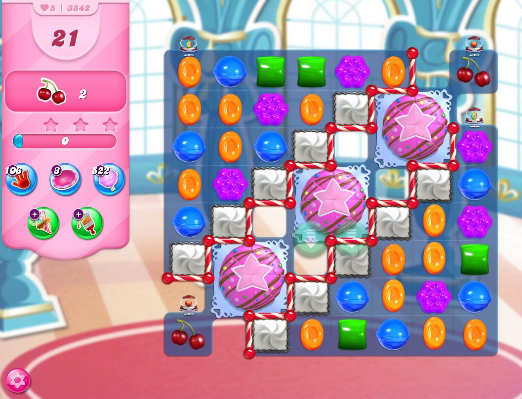 Candy Crush Saga level 3842