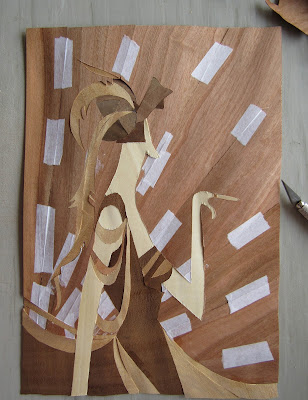 vogue cover artdeco marquetry