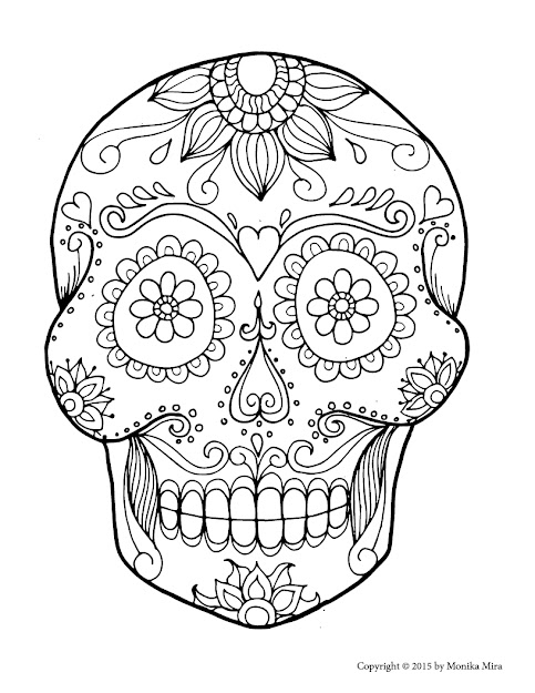 Download Coloring Pages Sugar Skull Coloring Pages Free Sugar Skull  Coloring Pages Futpal Sheets