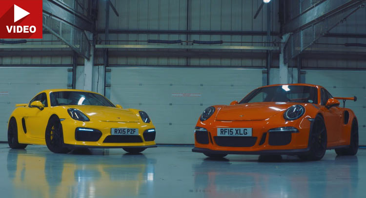 cayman gt4 battles 911 gt3 rs in a porsche track face off. Black Bedroom Furniture Sets. Home Design Ideas