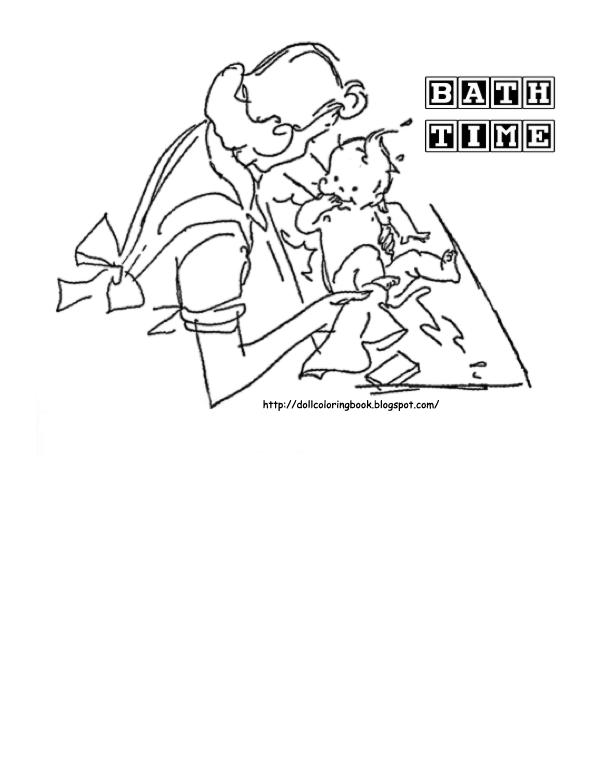 bath time coloring pages - photo#19