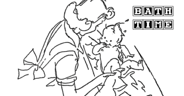 bath time coloring pages - photo#8