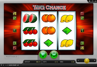 play double triple chance free slot