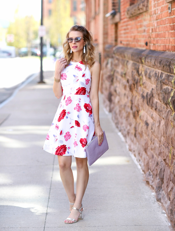 b31e662bb45d What I m wearing  c o Banana Republic Floral Racerback Dress (wearing size  0  also in petite   tall)