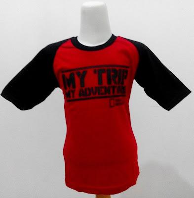 Kaos Raglan Anak My Trip My Adventure (MTMA) Merah