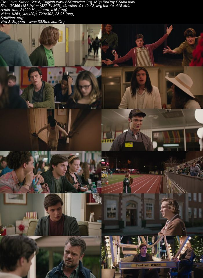Love, Simon (2018) English 480p BluRay 300MB