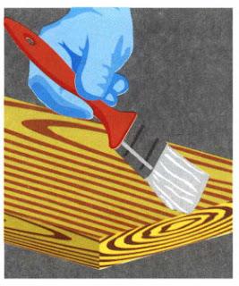 Процедура отбеливания древесины