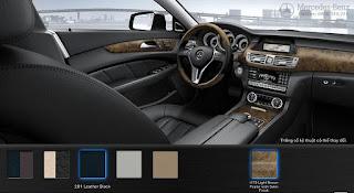 Nội thất Mercedes CLS 350 2015 màu Đen Leather 201