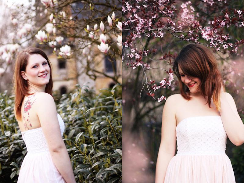 Fotoshooting mit Kirschblüten