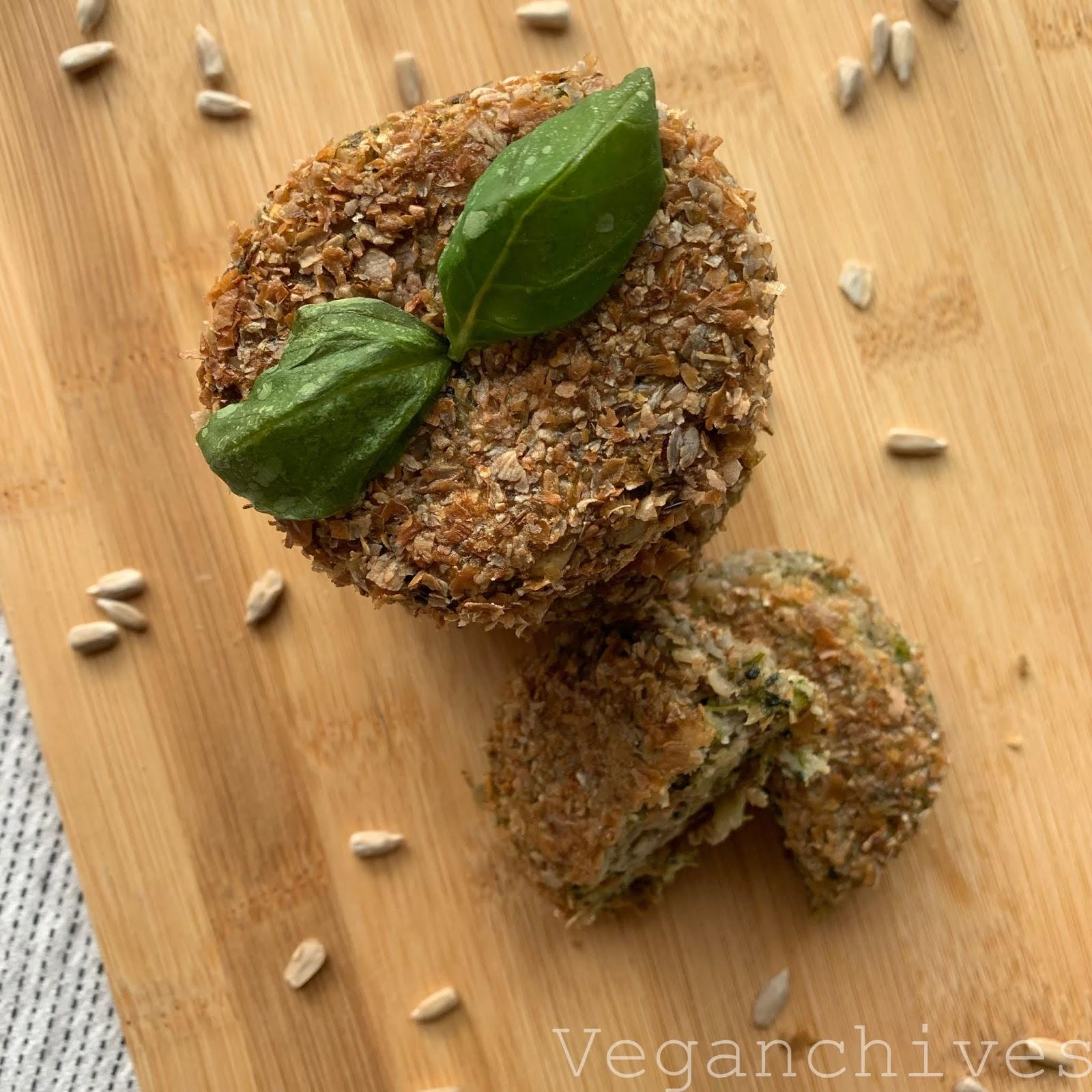 Wegańskie kotlety ze słonecznika i brokuł
