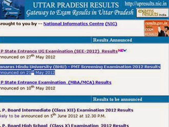 UP Board 12th Results 2016