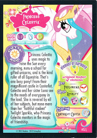 My Little Pony Princess Celestia Series 1 Trading Card