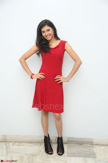 Mounika Telugu Actress in Red Sleeveless Dress Black Boots Spicy Pics 033.JPG