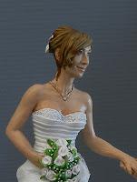 statuine sposi realistiche ritratti personalizzati per torta matrimonio orme magiche