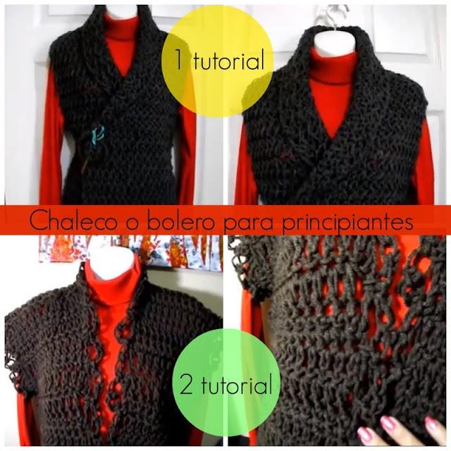 Como hacer 2 Chalecos Crochet Principiantes
