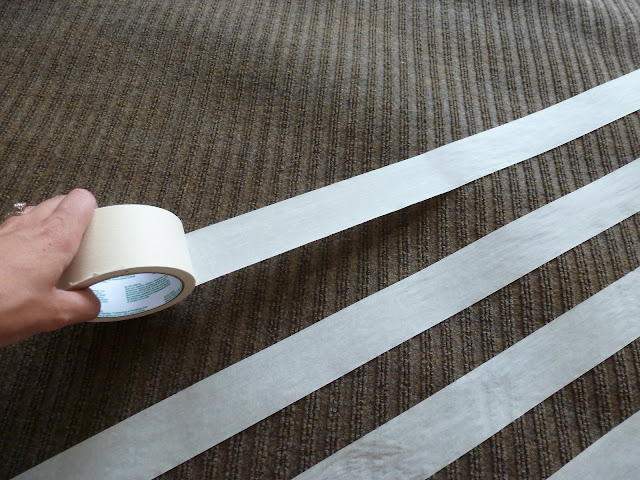 DIY Rug Spray Paint Tape