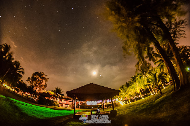 Night photography at Club Med Cherating Beach
