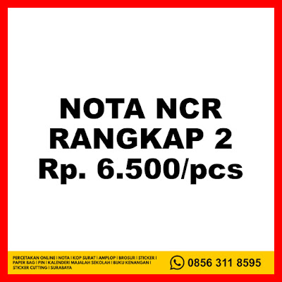 Cetak Nota UKM Surabaya Online