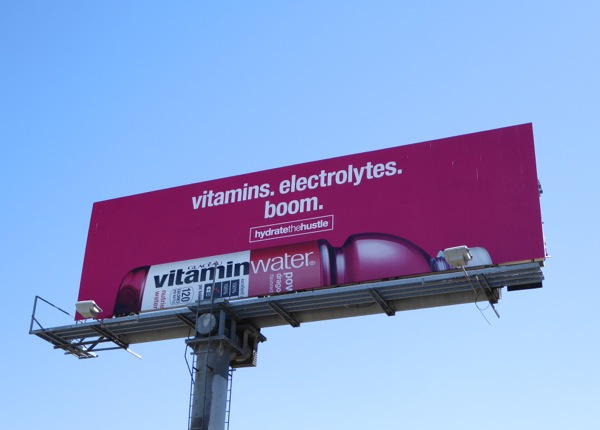 Boom Vitamin Water Hydrate the Hustle billboard