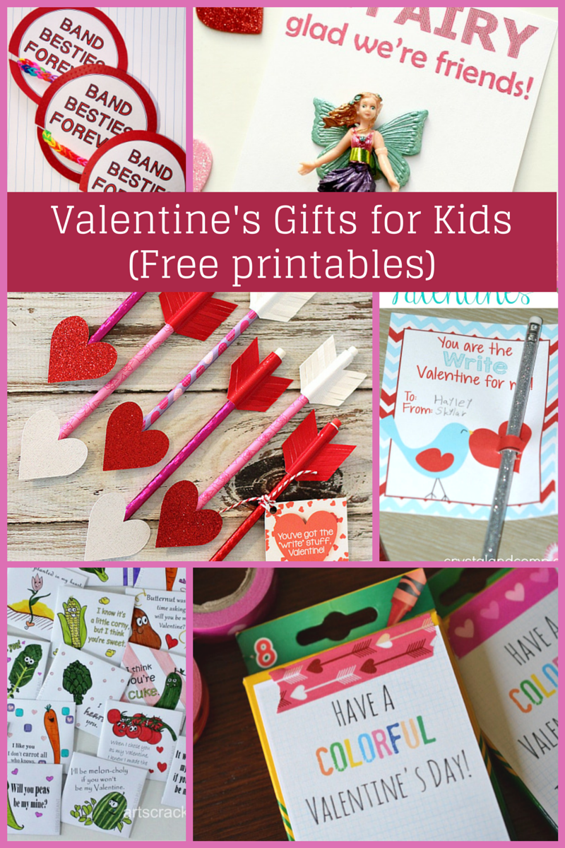Valentine's gifts for kids with free printables