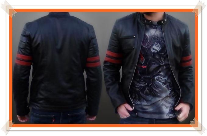 contoh desain jaket kulit pria terbaru